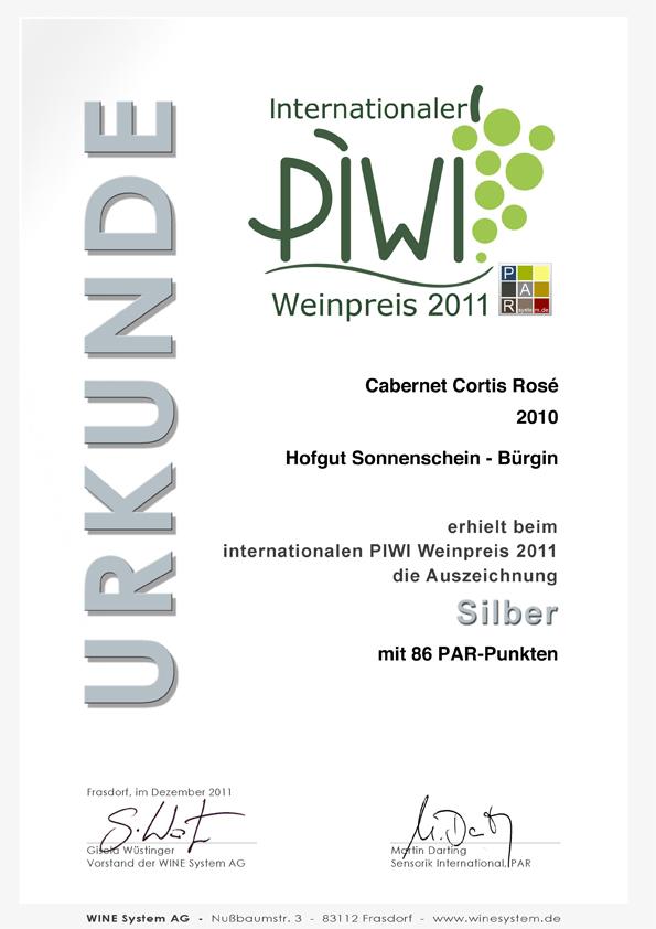 PIWI_Weinpreis_CortisRose2010