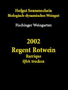 2002 Regent Rotwein Barrique QbA trocken