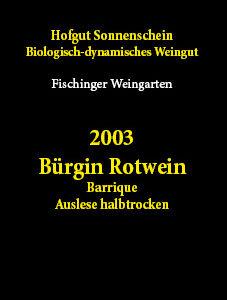 2003 rotwein