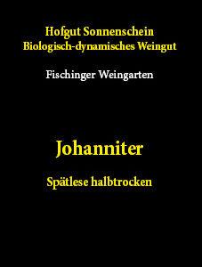 Johanniter spätlese